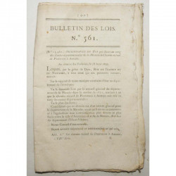 Bulletin des lois - chemin de pontorson - 1822 - Louis XVIII ( 042)
