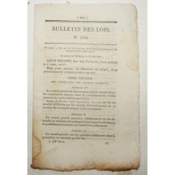 Bulletin des lois - conseils generaux - 1822 - Louis XVIII ( 043 )