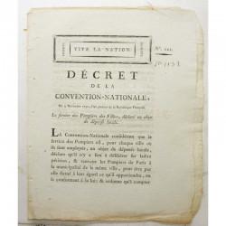 Decret de la convention nationale - pompiers - 1792 ( 086 )