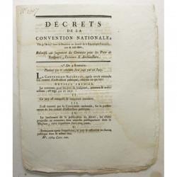 Decret de la convention nationale - concours - an II ( 027 )